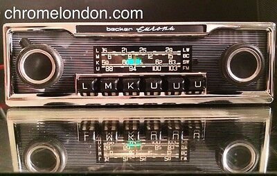 BECKER EUROPA Vintage Classic Car FM RADIO +MP3 seeVideo MINT RESTORED CONCOURS