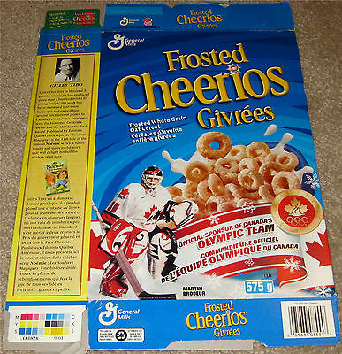 2001 Canadian Frosted Cheerios Box- Martin Brodeur, New Jersey Devils