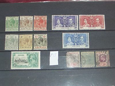 Queen Victoria to Geo V1 Grenada stamps mint & used (i do combine p&p)