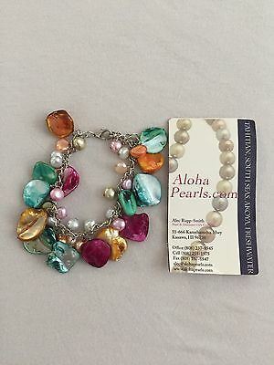 Pearl and Shell Bracelet from Hawaii. EUC