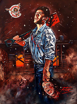 Bruce Campbell / The Evil Dead / Heavyweight Archival Rick Melton Fine Art Print
