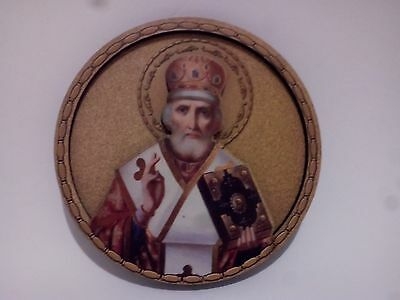 Christian orthodox Round Magnet of the Patriarch, from wood. good for any metal