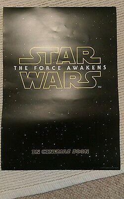 1 Only Star Wars Force Awakens Reel Cinema Poster. Can Be Sold As Job Lot