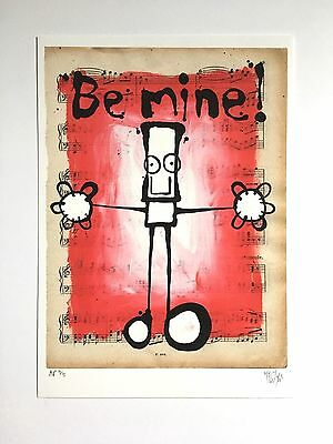 My Dog Sighs 'Be Mine' Original Limited Edition- Signed Print 4/5- Very Rare