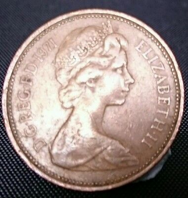 Rare 1971 New Pence 2p Coin Very rare for British Coin Collections