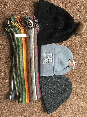 mens hat and scarf set