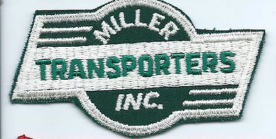 Miller Transporters Inc truck driver patch 2-1/4 X 3-3/4