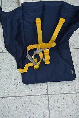 NEW Mamas and Papas M&P BARNIE Yellow and Blue Replacement Seat Cover +Harness