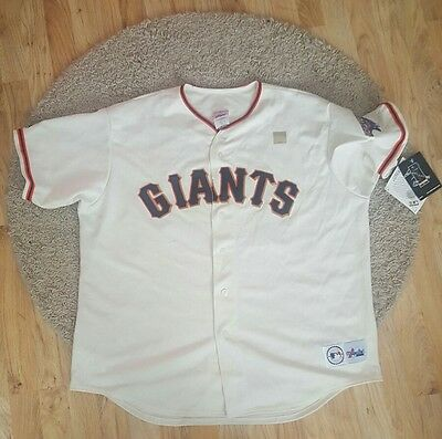 San Francisco Giants Baseball Jersey Shirt Top Cream world series 2002 majestic