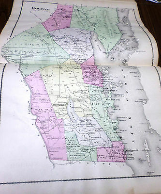 Original 1876 Map Town Of Bolton Lake George Ny Warren Co