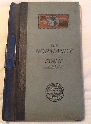 The Normandy Stamp Album Errington & Martin Good Condition For Age