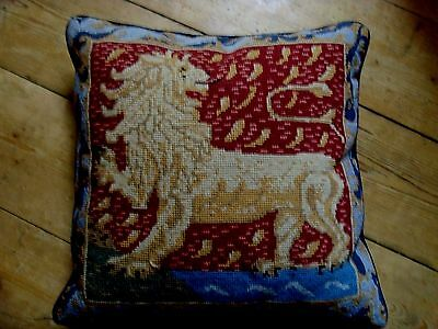 Ehrman Needlepoint Tapestry Cushion Cover The Standing Lion Bahouth Medieval