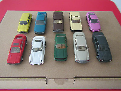 Wiking/Herpa HO scale car collection BMW, Ford, Mercedes-Benz, Opel, Porsche