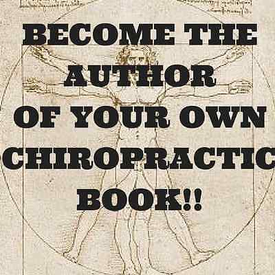 400 page Chiropractic Book Template with full rights for only $5 bucks!!