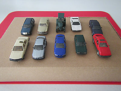 Wiking/Herpa HO scale car collection BMW, Ford, Hanomag, Mercedes-Benz, Opel, VW