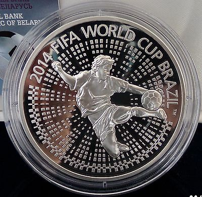 Belarus 100 Rubles 2013 The 2014 FIFA World Cup. Brazil 5 Oz Silver Proof