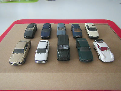 Wiking/Herpa HO scale car collection BMW, Mercedes-Benz, Opel, Porsche