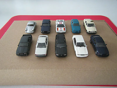 Wiking/Herpa HO scale car collection Audi, BMW, Mercedes, Mitsubishi, Opel, Pors