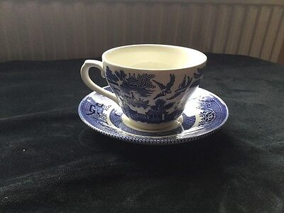 Churchill Willow Pattern Cup And Saucer