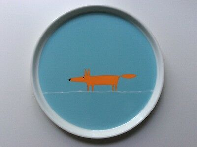 Scion MR FOX side plate duck egg blue and orange NEW