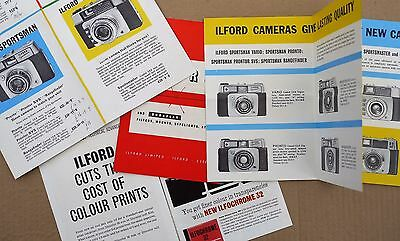 Ilford cameras photography brochures leaflets 1960s
