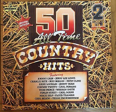 50 All Time Country Hits- Double Vinyl Record Album