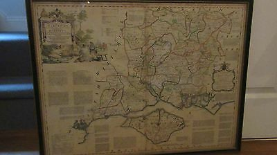 Antiquarian map of Hampshire - T Kitchin