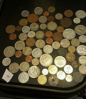 Mega World Coin Collection Bulk Job Lot of 60+ All Different Old Coins