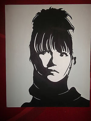 acrylic painting of su metal from babymetal