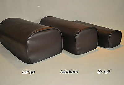 Brown Pair of Faux Leather Antimacassar Chair Sofa Arm Cap Protectors Wipe Clean