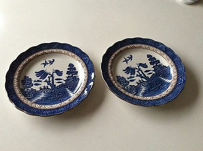 Booths Real Old Willow A8025 side plates x 2