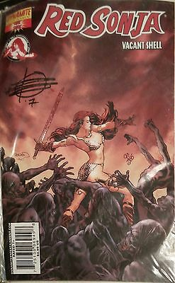 RED SONJA: VACANT SHELL - SIGNED & NUMBERED BY WRITER, RICK REMENDER,  w/COA