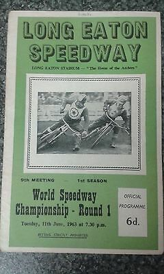 speedway programme 1963 LONG EATON  world speedway championship rnd1 (unfilled)