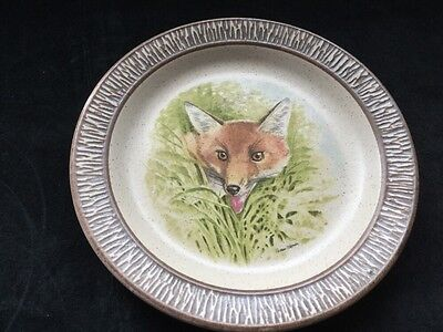 purbeck pottery fox plate