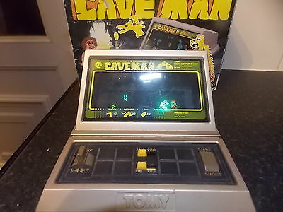 RARE Vintage Handheld Electronic Grandstand Caveman Game Boxed