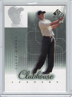 2002 SP Authentic Clubhouse Leaders #56SPA Tiger Woods