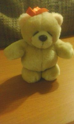 """Forever Friends Mini Bear with red bow 5"""" tall"""