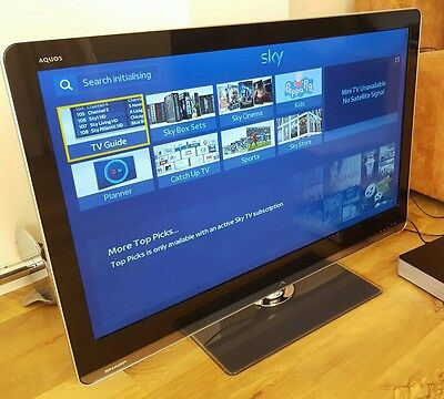 46 inch LED TV Sharp Aquos LC46LE811E Freeview HD