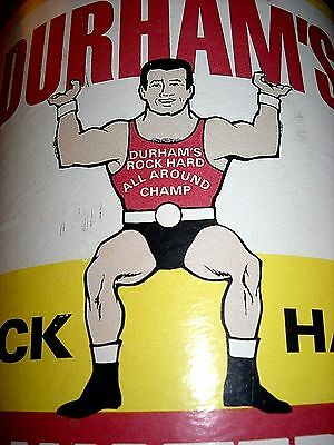 Vintage Durham's Large Rock Hard Strong Man Water Putty 4 Pounds Can * Old Count