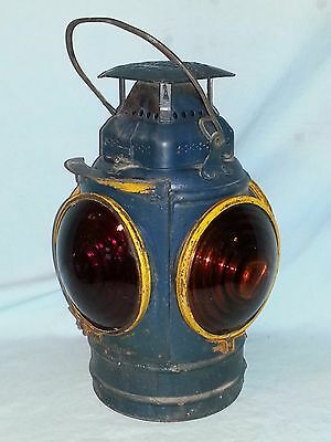Antique Adlake Non Sweating 4 Way Lamp, RR Switch Lantern, Chicago, Train Light