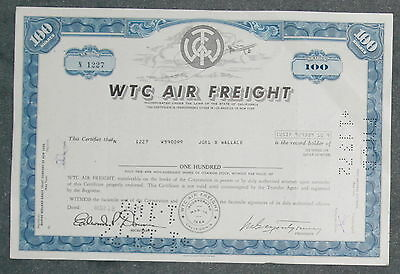 WTC Air Freight 1972 100 Shares .