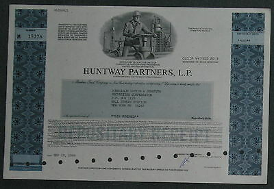 Huntway Partners, L. P. 1989 600 Shares .