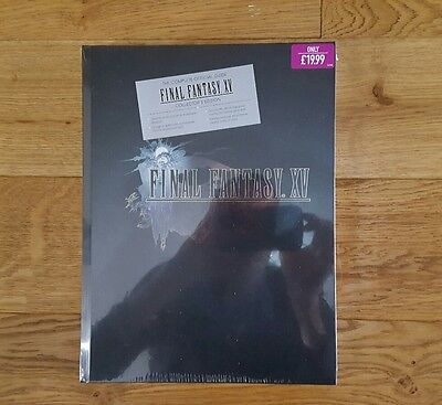 Final Fantasy xv 15 Hardcover Collector's Edition strategy guide New and Sealed