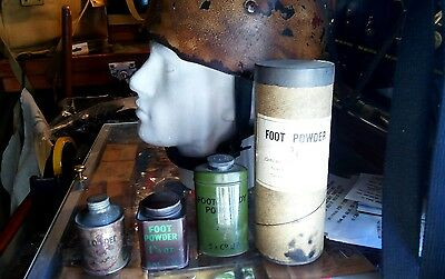 WW1 and WW2 collection of foot powder