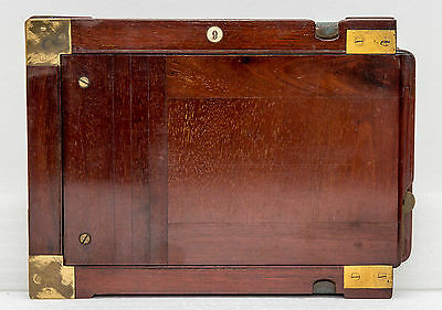 Vintage Double Dark-slide mahogany half-plate holder.6.5x4.75 inches plate size