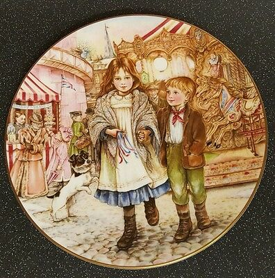 Royal Worcester The NSPCC Christmas plate 1989
