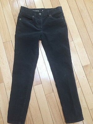 Crewcuts by J. Crew Toothpick Corduroy Pants Size 8 Charcoal Color Unisex