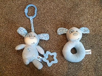 """Baby Boy Blue Rattles And Teether's """"new"""""""