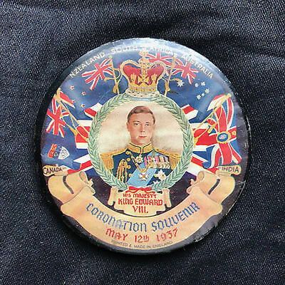 King Edward Viii / Duke Of Windsor – Vintage Coronation Powder/make-Up Mirror
