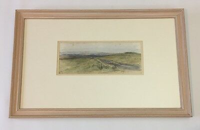 Landscape, signed watercolour painting in frame